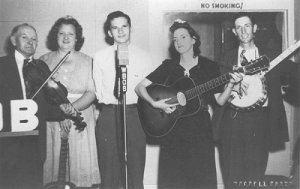 Howard Hall (banjo) in a 1950s' photo.