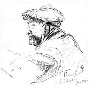 Jim Wilson - sketch by Audrey Matthews, Jan 1961