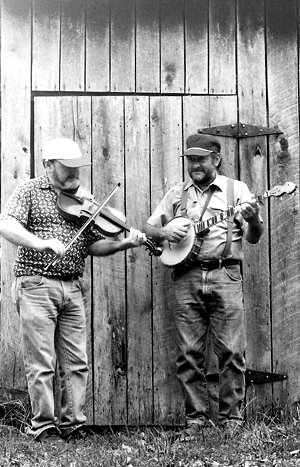 Billy Stamper, fiddle; Earl Thomas, banjo