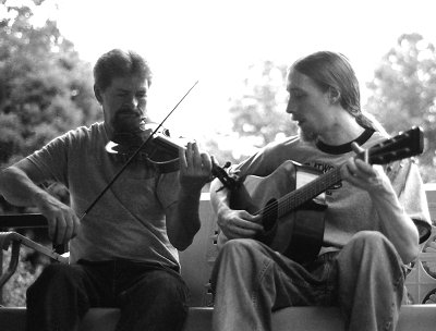 Roger Cooper, fiddle and Michael Garvin, guitar